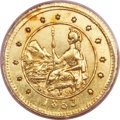 California Fractional Gold , 1853 50C Arms of California 50 Cents, BG-435, Low R.5, MS63 PCGS....