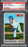 Baseball Cards:Singles (1970-Now), 1970 Topps Jerry Koosman #610 PSA Gem Mint 10....
