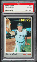 Baseball Cards:Singles (1970-Now), 1970 Topps Norm Cash #611 PSA Mint 9....