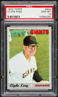 Baseball Cards:Singles (1970-Now), 1970 Topps Clyde King #624 PSA Gem Mint 10....