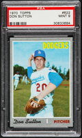Baseball Cards:Singles (1970-Now), 1970 Topps Don Sutton #622 PSA Mint 9....
