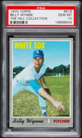 Baseball Cards:Singles (1970-Now), 1970 Topps Billy Wynne #618 PSA Gem Mint 10 - Pop One....