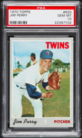 Baseball Cards:Singles (1970-Now), 1970 Topps Jim Perry #620 PSA Gem Mint 10....