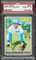 Baseball Cards:Singles (1970-Now), 1970 Topps Gary Sutherland #632 PSA Gem Mint 10 - Pop Three....