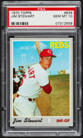 Baseball Cards:Singles (1970-Now), 1970 Topps Jim Stewart #636 PSA Gem Mint 10 - Pop Two....