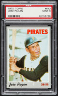 Baseball Cards:Singles (1970-Now), 1970 Topps Jose Pagan #643 PSA Mint 9....
