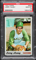 Baseball Cards:Singles (1970-Now), 1970 Topps Larry Haney #648 PSA Gem Mint 10....
