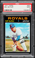 Baseball Cards:Singles (1970-Now), 1971 Topps Bill Butler #681 PSA Mint 9....