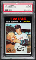 Baseball Cards:Singles (1970-Now), 1971 Topps Dave Boswell #675 PSA Mint 9....