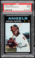 Baseball Cards:Singles (1970-Now), 1971 Topps Tommie Reynolds #676 PSA Mint 9 - Pop Three, None Higher....