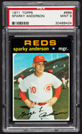 Baseball Cards:Singles (1970-Now), 1971 Topps Sparky Anderson #688 PSA Mint 9....