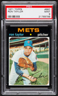 Baseball Cards:Singles (1970-Now), 1971 Topps Ron Taylor #687 PSA Mint 9 - Pop Three, None Higher....