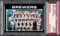 Baseball Cards:Singles (1970-Now), 1971 Topps Brewers Team #698 PSA Mint 9....