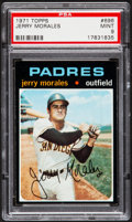 Baseball Cards:Singles (1970-Now), 1971 Topps Jerry Morales #696 PSA Mint 9....