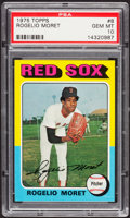 Baseball Cards:Singles (1970-Now), 1975 Topps Rogelio Moret #8 PSA Gem Mint 10....