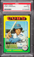 Baseball Cards:Singles (1970-Now), 1975 Topps Jose Cardenal #15 PSA Gem Mint 10 - Pop Two....