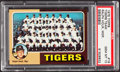 Baseball Cards:Singles (1970-Now), 1975 Topps Tigers Team #18 PSA Gem Mint 10....