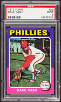 Baseball Cards:Singles (1970-Now), 1975 Topps Dave Cash #22 PSA Mint 9....