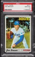 Baseball Cards:Singles (1970-Now), 1970 Topps Jim Brewer #571 PSA Gem Mint 10 - Pop Two....