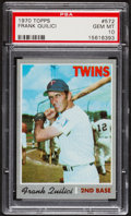 Baseball Cards:Singles (1970-Now), 1970 Topps Frank Quilici #572 PSA Gem Mint 10....