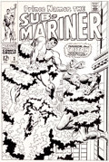 Original Comic Art:Covers, John Buscema and Frank Giacoia Sub-Mariner #3 Cover OriginalArt and Production Cover Group of 2 (Marvel, 1968).... (Total: 2Items)