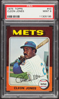 Baseball Cards:Singles (1970-Now), 1975 Topps Cleon Jones #43 PSA Mint 9....