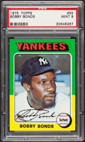 Baseball Cards:Singles (1970-Now), 1975 Topps Bobby Bonds #55 PSA Mint 9....