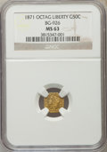 California Fractional Gold , 1871 50C Liberty Octagonal 50 Cents, BG-926, High R.6, MS63 NGC....