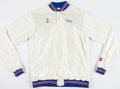 Basketball Collectibles:Uniforms, 1987 Detroit Pistons Game Worn Warm Up Jacket and Pants....