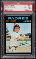 Baseball Cards:Singles (1970-Now), 1971 Topps Larry Stahl #711 PSA NM-MT+ 8.5....