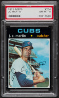 Baseball Cards:Singles (1970-Now), 1971 Topps J.C. Martin #704 PSA NM-MT 8....