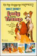 "Movie Posters:Animation, Lady and the Tramp (Buena Vista, R-1972). One Sheet (27"" X 41""). Animation.. ..."
