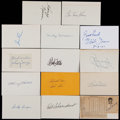 Baseball Collectibles:Others, Baseball Greats Signed Index Cards Lot of 140....