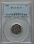 Bust Dimes: , 1832 10C XF40 PCGS. PCGS Population (34/300). NGC Census: (8/250).Mintage: 522,500. Numismedia Wsl. Price for problem free...