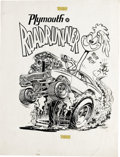 """Original Comic Art:Sketches, Ed """"Big Daddy"""" Roth Studio - """"Plymouth Roadrunner"""" Illustration Original Art (Roth, 1967). One of the most important figures..."""