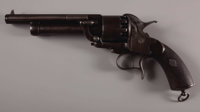 EARLY TRANSITIONAL 1st/2nd MODEL .42/.63 CALIBER LEMAT PERCUSSION 10 SHOT REVOLVER SERIAL #3678 MATCHING EXCEPT L