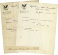 Autographs:U.S. Presidents, Lot of Three Theodore Roosevelt Autographs... (Total: 3 Items)