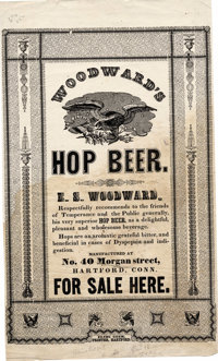 "Very Cool Victorian Beer Advertising Broadside, one page, 8"" x 13.75"", Hartford, Connecticut, circa mid-19th c..."