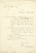 Autographs:Military Figures, Giuseppe Garibaldi Document Signed...