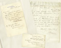 """Autographs:U.S. Presidents, Three Items Pertaining To Chester A. Arthur Presidency, asfollows:. Chester A. Arthur Clipped Signature, 5"""" x 3"""", from ...(Total: 3 Items)"""