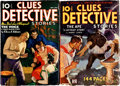 Pulps:Detective, Clues Detective Stories Group of 2 (Street & Smith,1935-36).... (Total: 2 Comic Books)