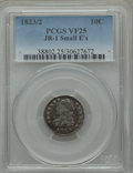 Bust Dimes, 1823/2 10C Small E's, JR-1, R.3, VF25 PCGS. PCGS Population (1/5).NGC Census: (1/5). Mintage: 440,000. ...