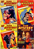 Pulps:Horror, Dime Mystery Magazine Group of 4 (Popular, 1933-34).... (Total: 4Items)