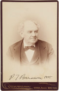 Autographs:Celebrities, Phineas T. Barnum Cabinet Card Signed with a Stamped Signature....