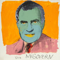 Prints, Andy Warhol (American, 1928-1987). Vote McGovern, 1972. Screenprint in colors. 42 x 42 inches (106.7 x 106.7 cm). Ed. 24...