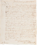 Miscellaneous:Ephemera, [Revolutionary War]. Lieutenant Hendrick Wycoff Autograph LetterSigned Regarding Cattle for the Continental Army....