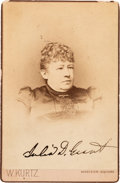 Autographs:U.S. Presidents, First Lady Julia D. Grant Signed Cabinet Card....