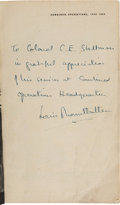 Autographs:Non-American, Louis Mountbatten Inscribed and Signed Copy of CombinedOperations....