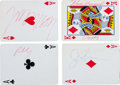 Music Memorabilia:Autographs and Signed Items, The Doors - A Set of Signatures on Individual Playing Cards,1967....