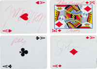 The Doors - A Set of Signatures on Individual Playing Cards, 1967